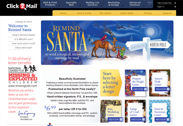 Remind Santa by Click2Mail